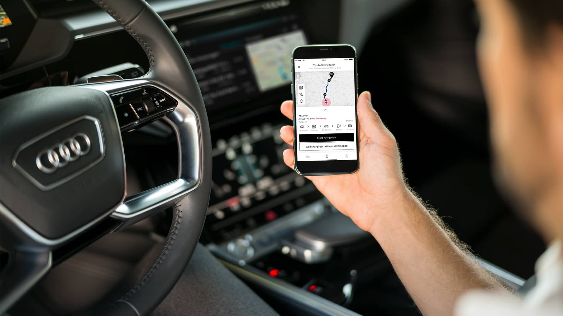 The myAudi app connects you to your Audi
