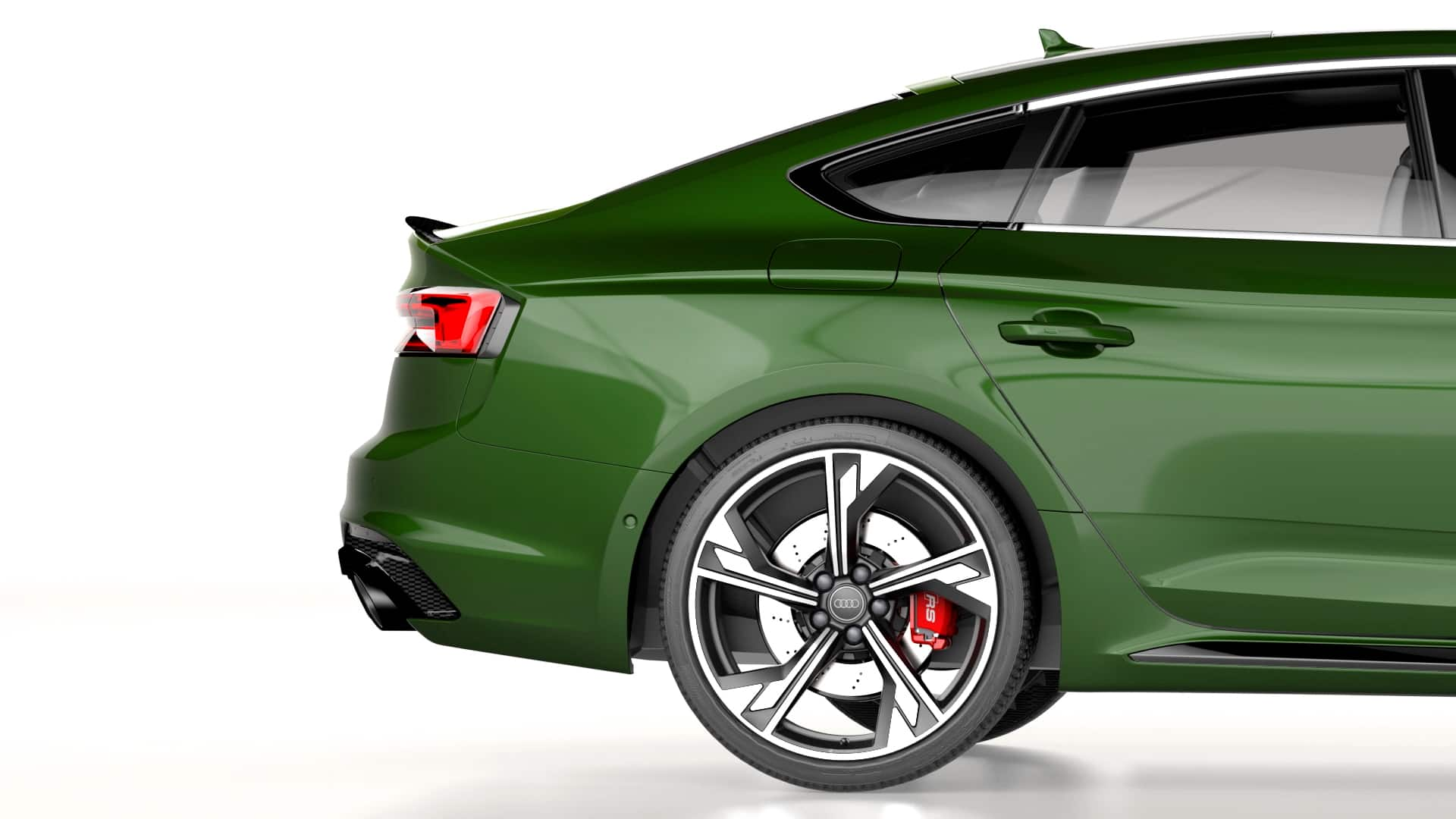 Vista laterale Audi RS 5 Sportback