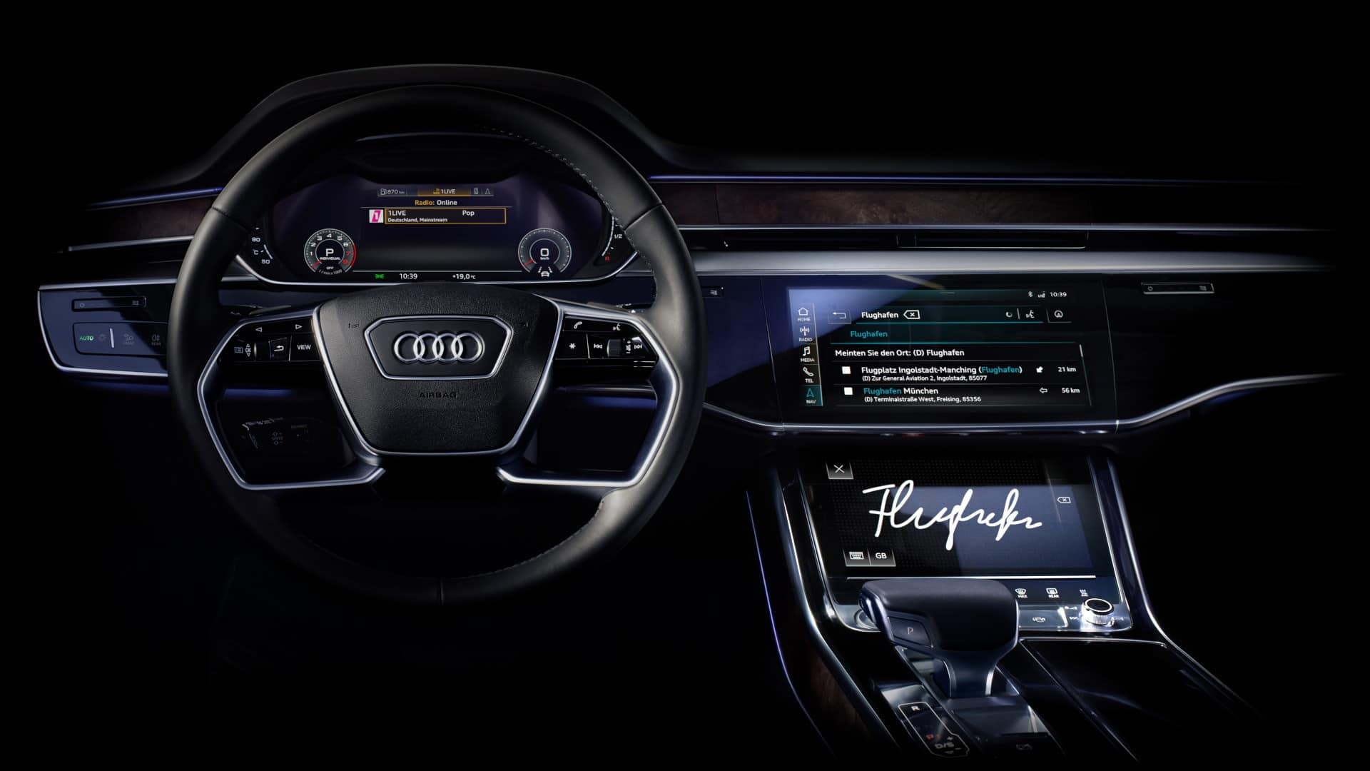 The MMI in Audi, which you can use to access the Audi connect services