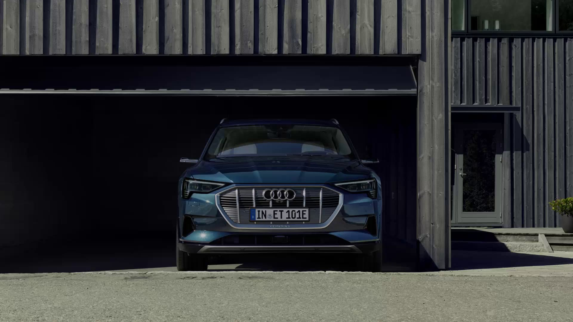 Audi e-tron in garage
