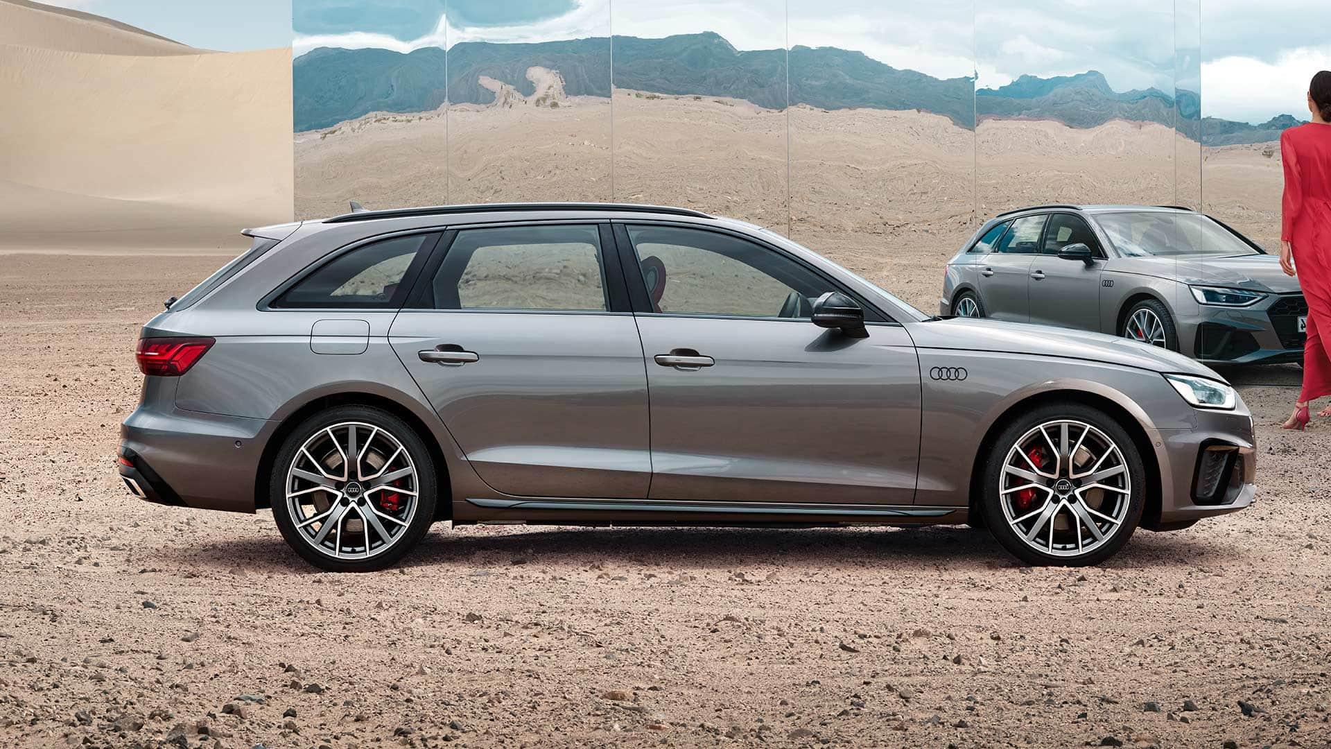 Vista laterale Audi A4 avant